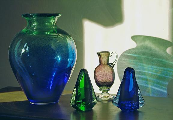 Swedish Vase And Glass Penguins